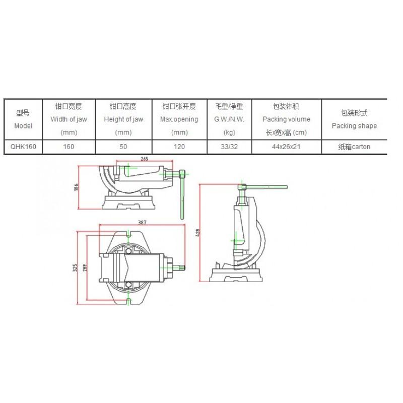 snablider102.ru - Станочные тиски с поворотным основанием TS-0057873